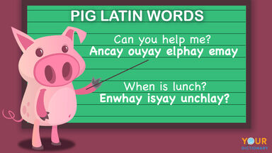 how to speak pig latin words
