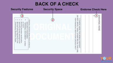 back of a check