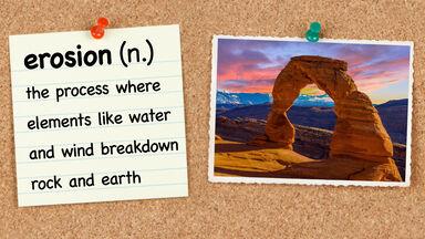 5th grade vocabulary word erosion