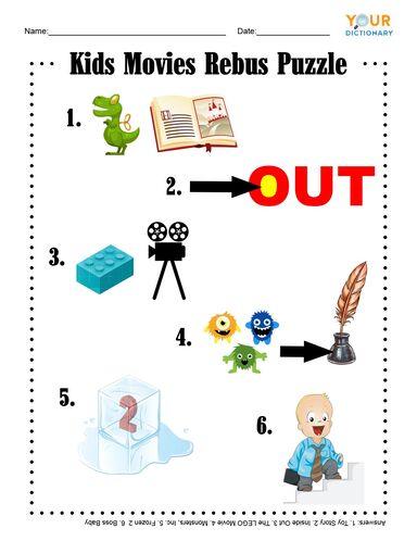 Kids Movies Rebus Puzzle