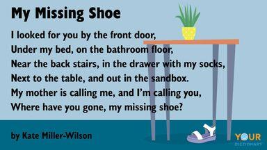short poem for kids My Missing Shoe