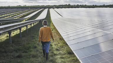 Example solar energy solar panel farm