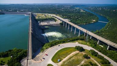 Hydroelectric Energy example Mansfield Dam Texas