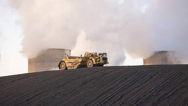 Nonrenewable energy example coal power station
