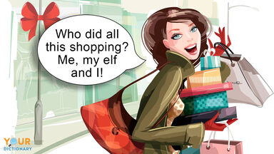 funny Christmas pun about shopping