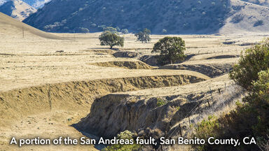 geology San Andreas fault line