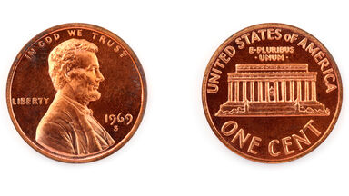 Example of Metallic Crystal copper plated penny