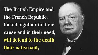 Winston Churchill anastrophe example