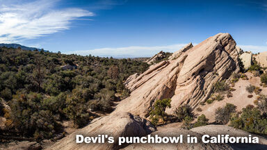 Example Chaparral Biome Devil's punchbowl California