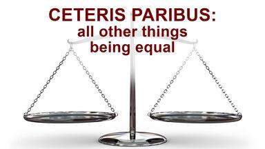 ceteris paribus examples