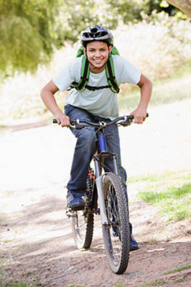 Boy riding bike as examples of consonance