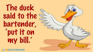 Funny duck bill pun