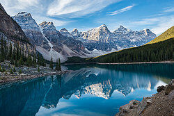 Mountains and a lake as examples of geography terms