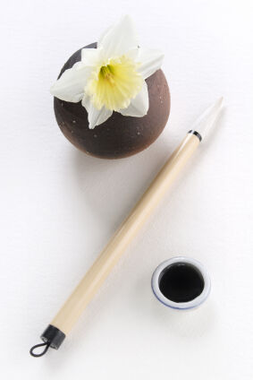 Pen and ink as examples of haiku poems