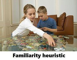 Brother and sister doing a puzzle as examples of heuristics