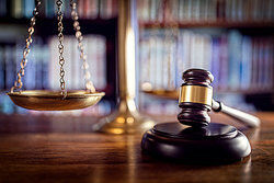 Gavel and scale as examples of human rights