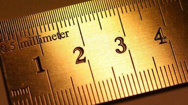 metric system prefixes millimeter on ruler