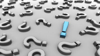 exclamation mark with question marks