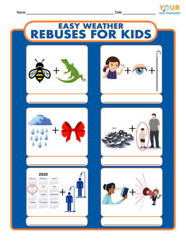 Rebus Puzzles For Kids