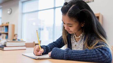 student writing diagramming sentences worksheet