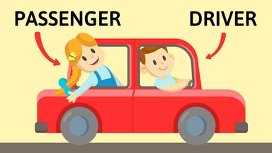 how to teach new words passenger and driver