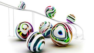 Balls rolling down ramp inertia example