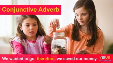 conjunctive adverb example therefore