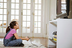 Girl playing video games as examples of insight