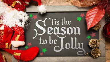 'Tis the season to be jolly sign