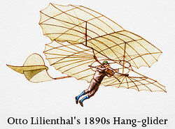 Otto Lilienthal's hang glider as examples of irony in history
