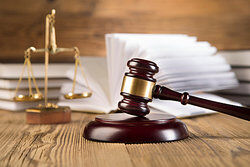 Gavel and scale as examples of judicial powers