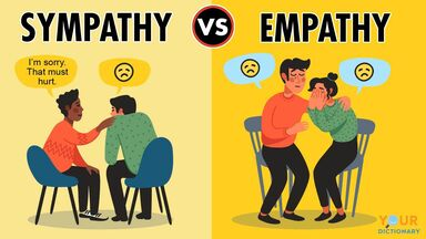 difference between sympathy and empathy example