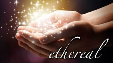 beautiful word ethereal hands holding stardust