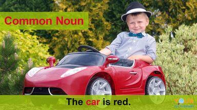 common noun example of car