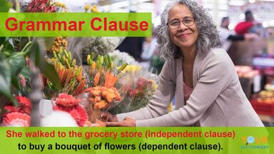 grammar clause example independent and dependent