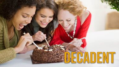 words to describe food decadent