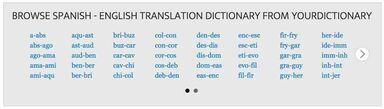 spanish dictionary index box