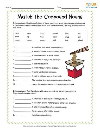 match the compound nouns