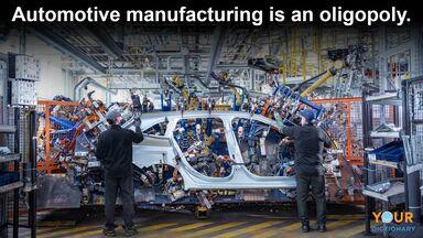example of oligopoly automotive industry
