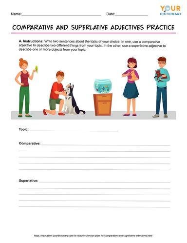 comparative and superlative adjectives practice