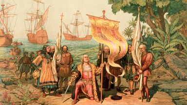 Columbus in the new country as imperialism example