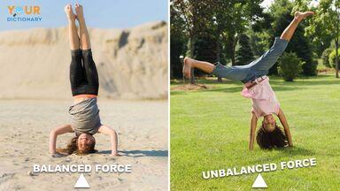 balanced and unbalanced force headstand and cartwheel