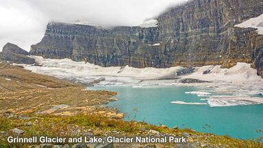 Grinnell Glacier example of ice erosion