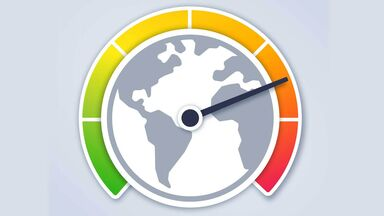global warming concept Earth temperature hotter