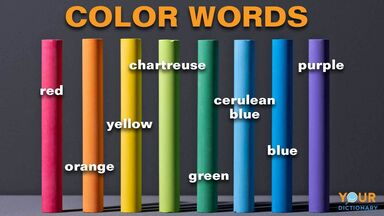 color words labeled over colored chalk