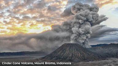 cinder cone volcano mount bromo indonesia