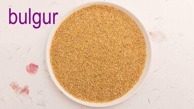 bowl of bulgur grain