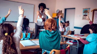 educational social institutions showing kids in classroom