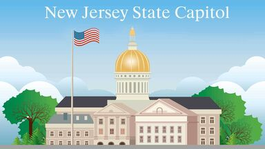 State government with New Jersey State Capitol