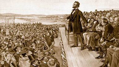 Lincoln Gettysburg address used with Getty Images editorial license